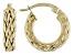14K Yellow Gold 1/2 Inch Wheat Border Hoop Earrings