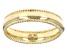 14K Yellow Gold Ribbed Border High Polished Band Ring