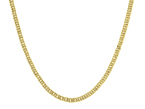 10K Yellow Gold 4.7MM Diamond-Cut 18 Inch Curb Chain Necklace