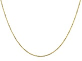 10K Yellow Gold Criss-Cross Chain 18 Inch Necklace