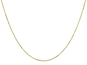 10K Yellow Gold Rolo Chain 18 Inch Necklace