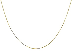 10K Yellow Gold Box Chain 18 Inch Necklace