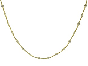 10K Yellow Gold Bella Luce® Cubic Zirconia Crochet D'Tuscano 18 Inch Necklace
