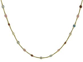 10K Yellow Gold Bella Luce® Multi-Color Cubic Zirconia Crochet D'Tuscano 18 Inch Necklace