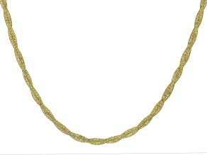 10K Yellow Gold Bella Luce® Cubic Zirconia Crochet D'Tuscano Double Torchon 18 Inch Necklace