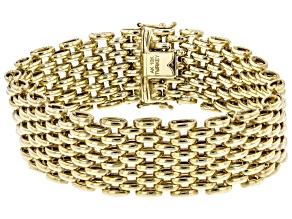 10K Yellow Gold High Polished Panther Link Bracelet