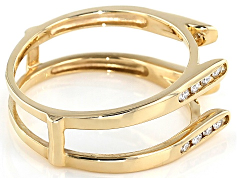 .24ctw diamond 14k yg ring guard