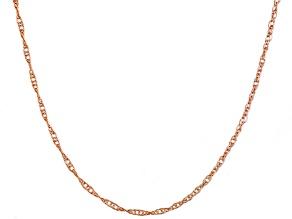 14k Rose Gold Pendant Chain