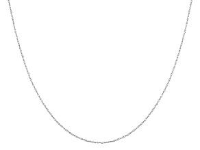 14k White Gold Pendant Chain