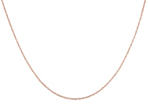 10K ROSE GOLD ROPE CHAIN