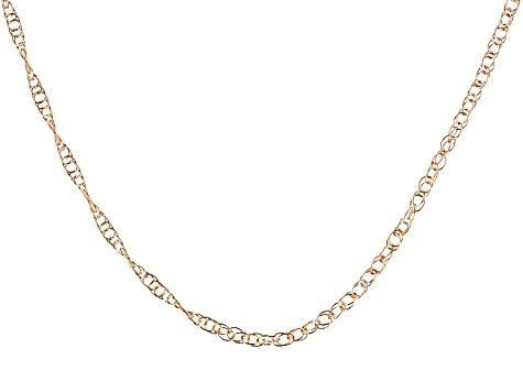 14k Rose Gold Rope Chain Stc001r Jtv Com