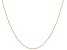 10k Rose Gold Rope Chain Necklace 18 inches