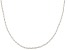 Womens Rope Link Chain Necklace 10kt White Gold 18 inches