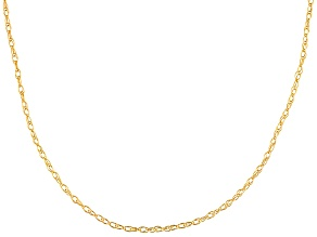 Womens Rope Rope Chain Necklace 10k Yellow Gold 18 inch