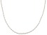 10k White Gold Rope Chain Necklace 20 inches