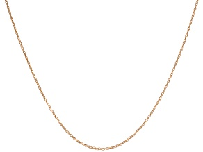 10K Rose Gold Rope Link Chain 24 Inch Necklace