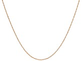 10k Rose Gold Rope Link Chain Necklace 24 inches