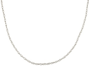 10k White Gold Rope Link Chain Necklace 24 inch