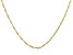 10k Yellow Gold Rope Link Chain Necklace 24 inches