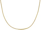 10k Yellow Gold Square Box Link Chain Necklace 20 inch