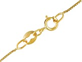 Square Box Link Chain Necklace 10k Yellow Gold 24 inch