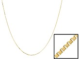 Womens Box Link Chain Necklace 14k Yellow Gold 18 inch