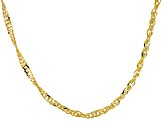 Womens Singapore Link Chain Necklace 10kt Yellow Gold 20 inch