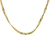 Singapore Link Chain Necklace 10k Yellow Gold 24 inch