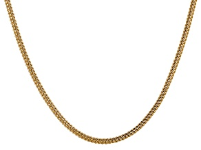 14k Yellow Gold 3mm Semi-Solid Franco Chain  24