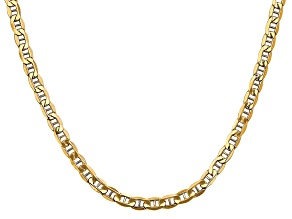 14k Yellow Gold 4.75mm Semi-Solid Anchor Chain