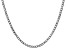 """14k White Gold 3.35mm Semi-Solid Curb Link Chain 18"""" with Lobster Clasp."""
