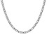 """14k White Gold 4.3mm Semi-Solid Curb Link Chain  18"""""""