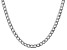 """14k White Gold 5.25mm Semi-Solid Curb Link Chain  18"""""""