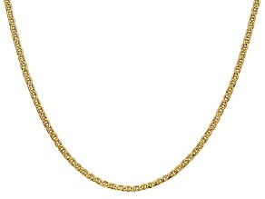 14k Yellow Gold 2.40mm Semi-Solid Anchor Chain 24