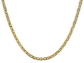 14k Yellow Gold 3.20mm Semi-Solid Anchor Chain 24