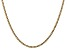 """14k Yellow Gold 2.5mm Semi-Solid Curb Link Chain  20"""""""