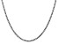 14k Gold 2.5mm Semi-Solid Curb Link Chain