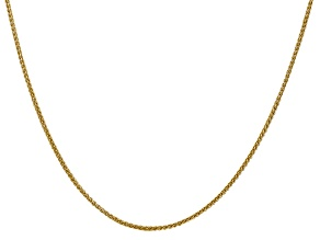 14k Gold Semi-Solid 1.55 mm Wheat Chain 24