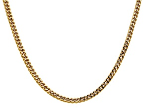 14k Yellow Gold 3.7mm Semi-Solid Franco Chain  18""