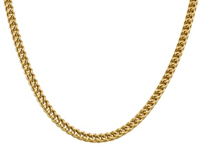 14k Yellow Gold 4.5mm Semi-Solid Franco Chain  24""
