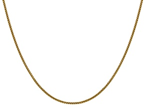 14k Yellow Gold 1.5mm Hollow Round Box Chain  18""