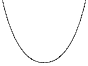 14k White Gold 1.5mm Hollow Round Box Chain  16""