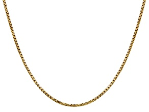 14k Yellow Gold 1.75mm Hollow Round Box Chain  18