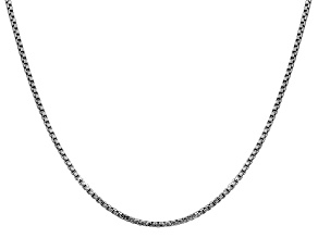 14k White Gold 1.75mm Round Box Chain 18