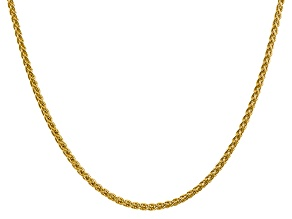 14k Yellow Gold 2.75mm Semi-solid Wheat Chain 18