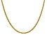 "14k Yellow Gold 2.75mm Semi-solid Wheat Chain 24"""