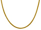 14k Yellow Gold 3.45mm Semi-solid Wheat Chain 18