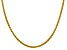 14k Yellow Gold 3.45mm Semi-solid Wheat Chain 20