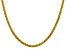 "14k Yellow Gold 4.15mm Semi-solid Wheat Chain 18""."