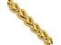"14k Yellow Gold 4.15mm Semi-solid Wheat Chain  24"""